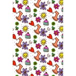 Doodle Pattern 5.5  x 8.5  Notebooks Back Cover Inside