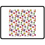 Doodle Pattern Fleece Blanket (Large)  80 x60 Blanket Front