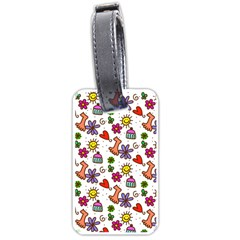 Doodle Pattern Luggage Tags (One Side)
