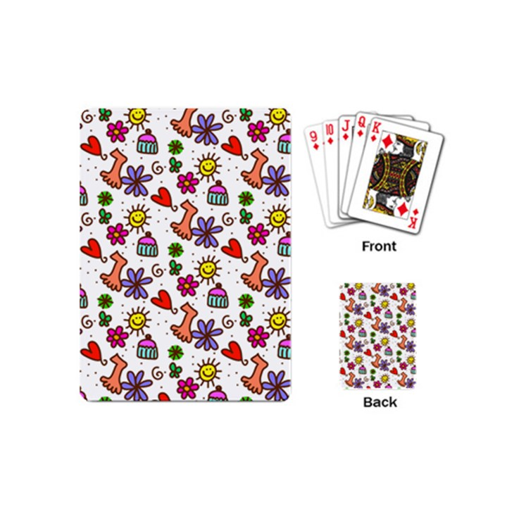 Doodle Pattern Playing Cards (Mini)