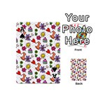 Doodle Pattern Playing Cards 54 (Mini)  Front - SpadeA