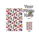 Doodle Pattern Playing Cards 54 (Mini)  Front - Heart7