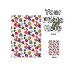 Doodle Pattern Playing Cards 54 (Mini)  Front - Diamond7