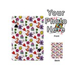 Doodle Pattern Playing Cards 54 (Mini)  Front - SpadeJ