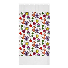 Doodle Pattern Shower Curtain 36  x 72  (Stall)