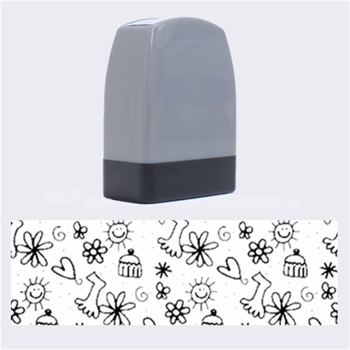 Doodle Pattern Name Stamps
