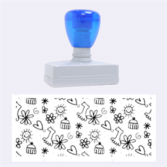Doodle Pattern Rubber Stamps (Large)