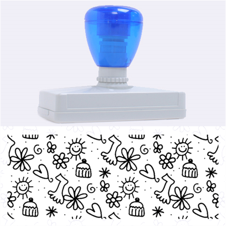 Doodle Pattern Rubber Address Stamps (XL)