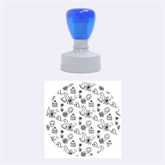 Doodle Pattern Rubber Round Stamps (Medium)