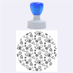 Doodle Pattern Rubber Round Stamps (Large)