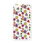 Doodle Pattern Apple iPhone 4 Case (White) Front