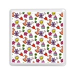 Doodle Pattern Memory Card Reader (Square)  Front