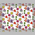 Doodle Pattern Deluxe Canvas 16  x 12   16  x 12  x 1.5  Stretched Canvas