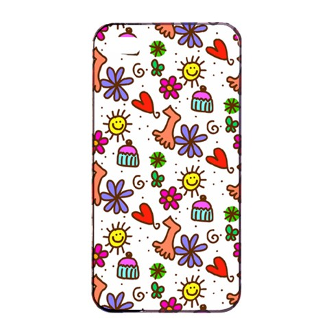 Doodle Pattern Apple iPhone 4/4s Seamless Case (Black)