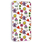 Doodle Pattern Apple iPhone 4/4s Seamless Case (White) Front
