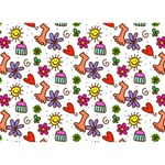 Doodle Pattern BOY 3D Greeting Card (7x5) Back