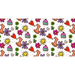 Doodle Pattern YOU ARE INVITED 3D Greeting Card (8x4)