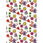 Doodle Pattern Get Well 3D Greeting Card (7x5) Inside