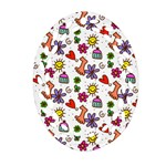 Doodle Pattern Ornament (Oval Filigree)  Front