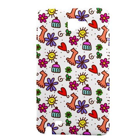 Doodle Pattern Samsung Galaxy Note 1 Hardshell Case