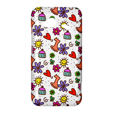 Doodle Pattern HTC Droid Incredible 4G LTE Hardshell Case