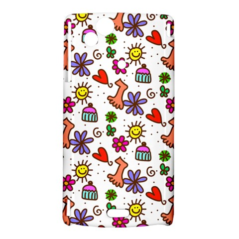 Doodle Pattern Sony Xperia Arc