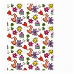 Doodle Pattern Small Garden Flag (Two Sides) Back