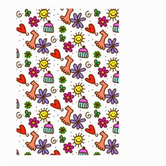 Doodle Pattern Large Garden Flag (Two Sides)