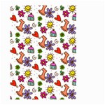 Doodle Pattern Large Garden Flag (Two Sides) Back