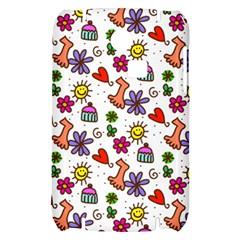 Doodle Pattern Samsung S3350 Hardshell Case