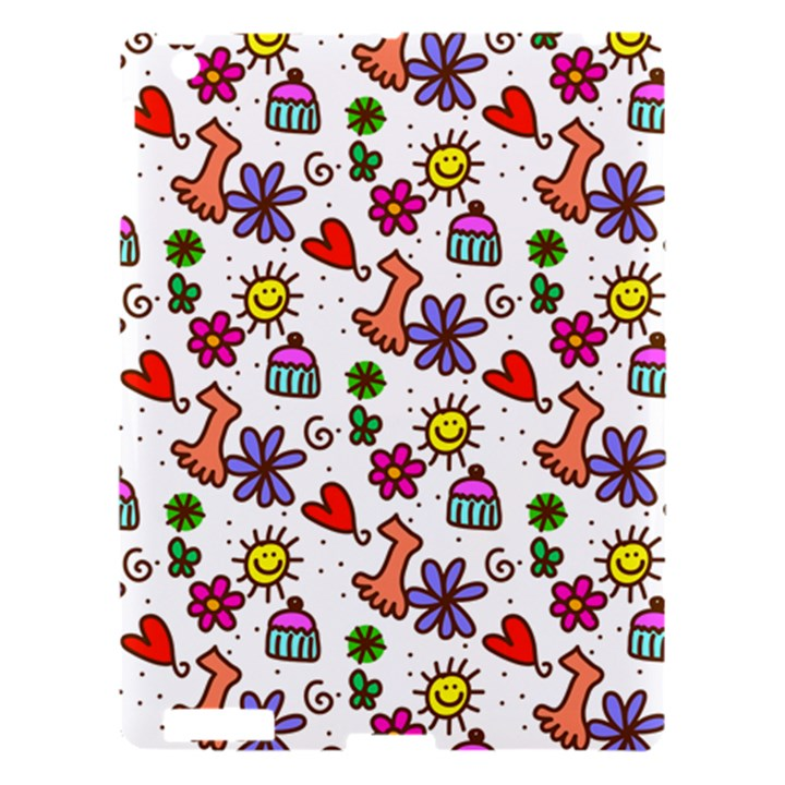Doodle Pattern Apple iPad 3/4 Hardshell Case