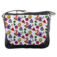Doodle Pattern Messenger Bags