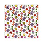 Doodle Pattern Acrylic Tangram Puzzle (6  x 6 ) Front