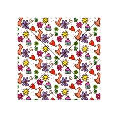 Doodle Pattern Acrylic Tangram Puzzle (4  x 4 )