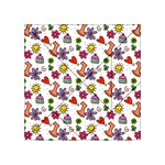 Doodle Pattern Acrylic Tangram Puzzle (4  x 4 ) Front