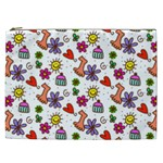 Doodle Pattern Cosmetic Bag (XXL)  Front