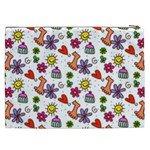 Doodle Pattern Cosmetic Bag (XXL)  Back