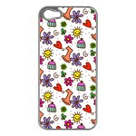 Doodle Pattern Apple iPhone 5 Case (Silver) Front