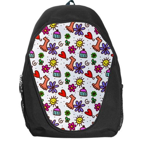 Doodle Pattern Backpack Bag