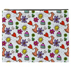 Doodle Pattern Cosmetic Bag (XXXL)