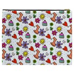 Doodle Pattern Cosmetic Bag (XXXL)  Back