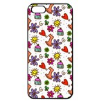 Doodle Pattern Apple iPhone 5 Seamless Case (Black) Front