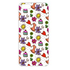 Doodle Pattern Apple iPhone 5 Seamless Case (White)
