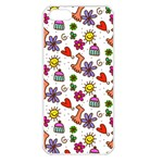 Doodle Pattern Apple iPhone 5 Seamless Case (White) Front