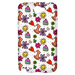 Doodle Pattern Samsung Galaxy Note 2 Hardshell Case