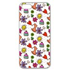 Doodle Pattern Apple Seamless iPhone 5 Case (Clear) Front