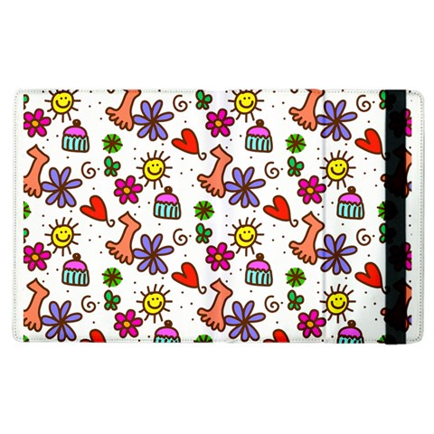 Doodle Pattern Apple iPad 3/4 Flip Case