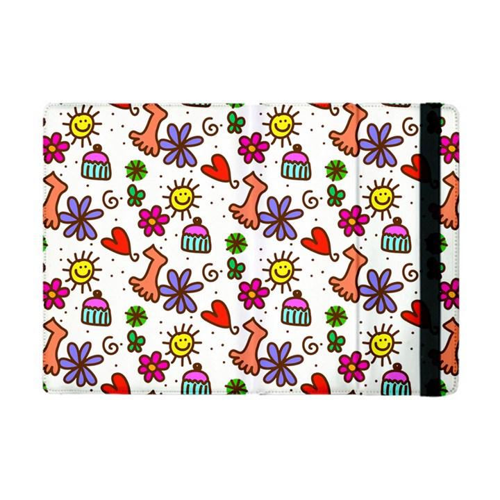 Doodle Pattern Apple iPad Mini Flip Case