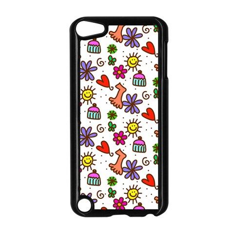 Doodle Pattern Apple iPod Touch 5 Case (Black)