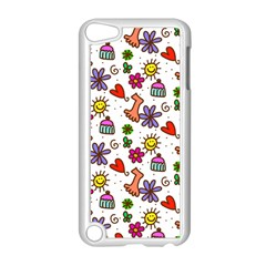 Doodle Pattern Apple iPod Touch 5 Case (White)